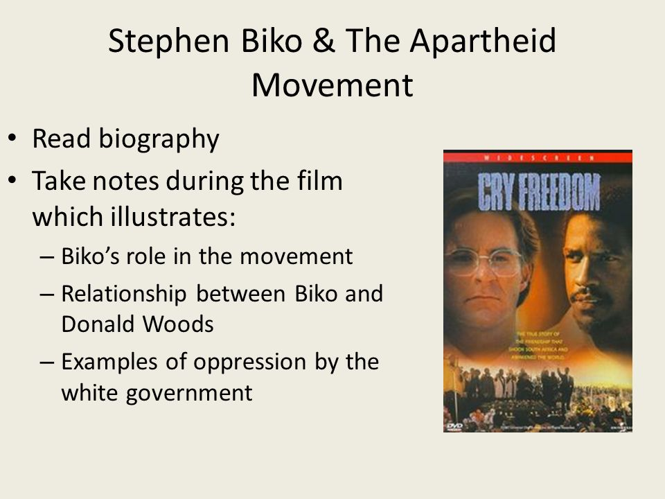 steve biko and donald woods relationship