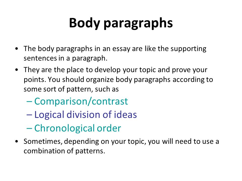 body paragraph week 6 This will be demonstrated in writing an outline, body paragraph  conduct a peer  review of someone else's body paragraph  due in week 6.