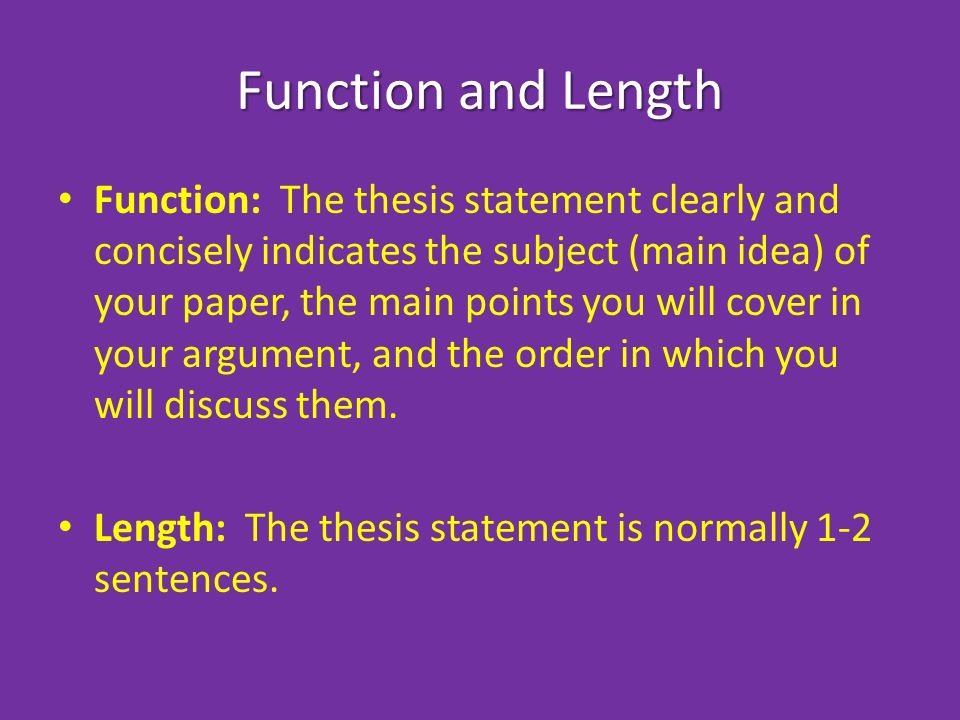 thesis statements for english literature