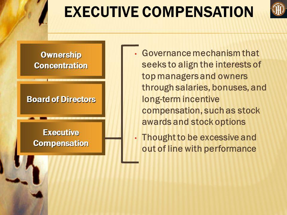 Management compensation stock options