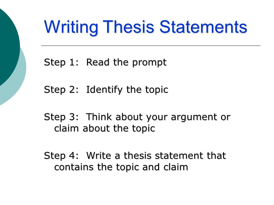prevention thesis statement