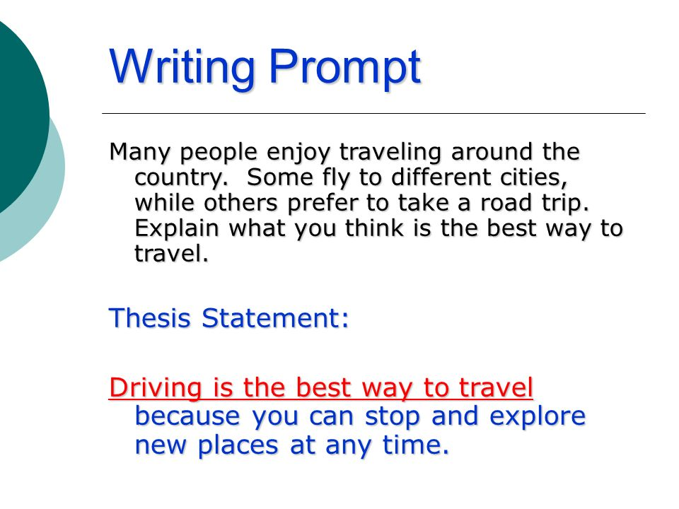 thesis prompts
