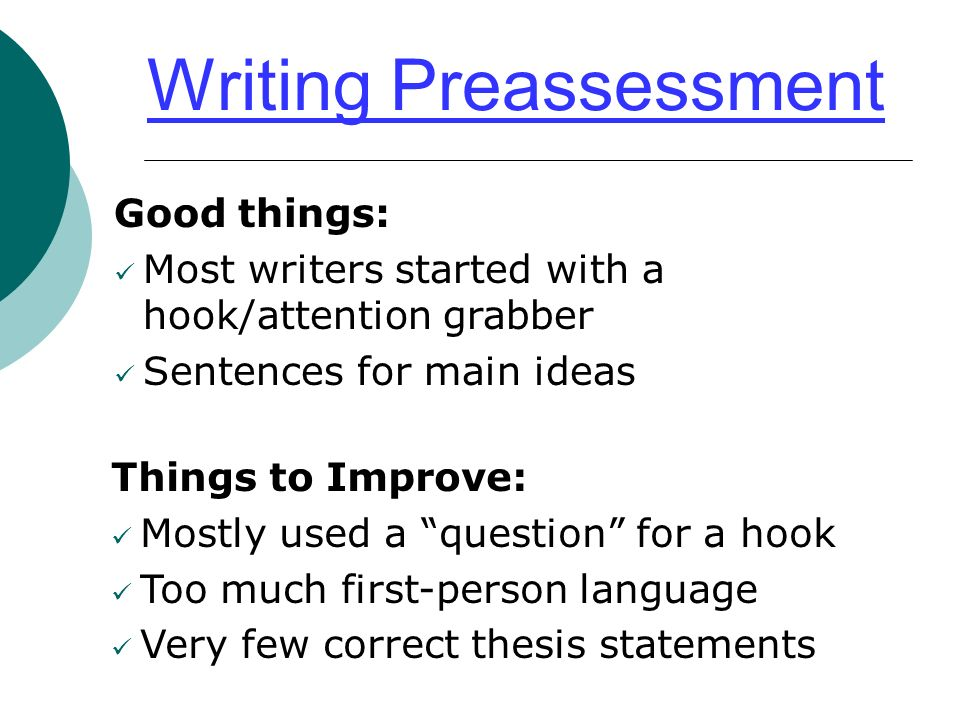 "the roadmap of your essay"" ppt video online  2 writing preassessment"