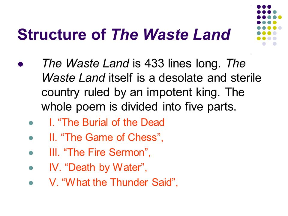"essay on a game of chess in the waste land As abusufian mentioned in an essay about the second part of the waste land ""a game of chess where we experience sexual."
