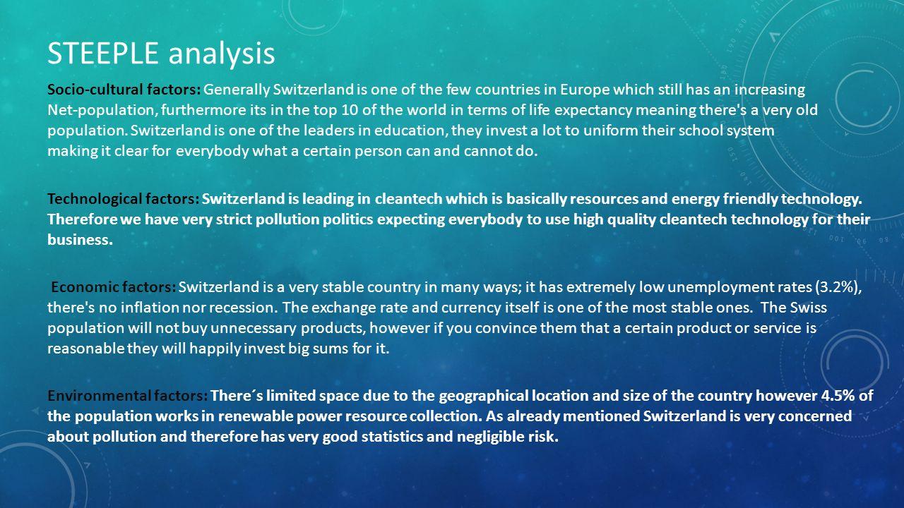 Presentation On Steeple Analyzis In Switzerland Ppt