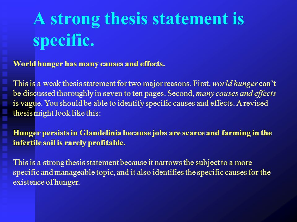 global thesis statement A thesis statement usually appears at the middle or end (2007) a model of scientific communication as a global distributed information system information.