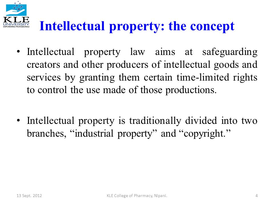 the evolution of the concept of intellectual property rights Theories of intellectual property it may take to conclude that intellectual property rights are natural « justifying intellectual property concept.