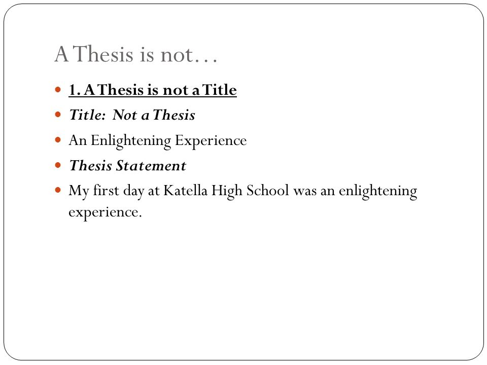 the thesis statement a roadmap for your essay ppt video online  9 a