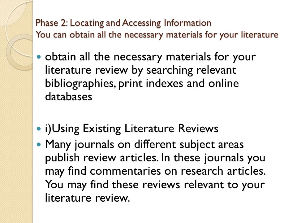 LITERATURE REVIEW    ppt video online download
