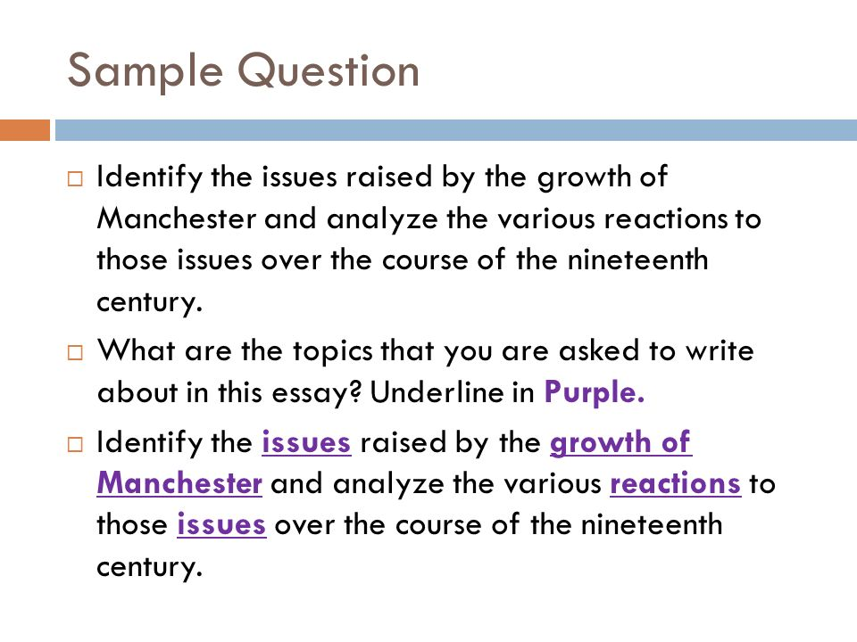 identify issues raised growth manchester and analyze vario Identify the issues raised by the growth of manchester and analyze the various reactions to those issues over the course of the nineteenth century during.