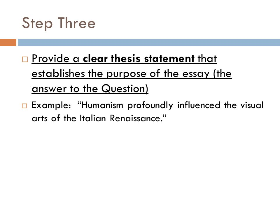 The purpose of an essay is to answer the question