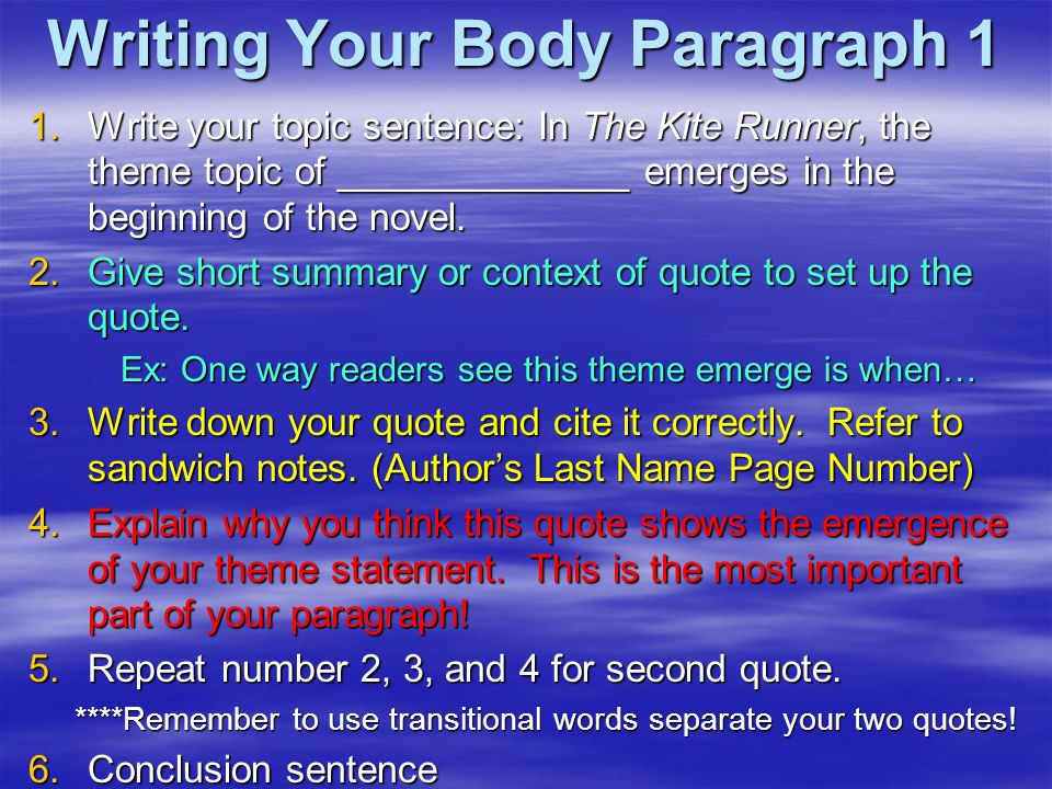 essay of the kite runner Rachel weimann eng 111-01 3/13/2013 summary of the kite runner outline in the kite runner the overall theme of redemption is constantly present the story is.
