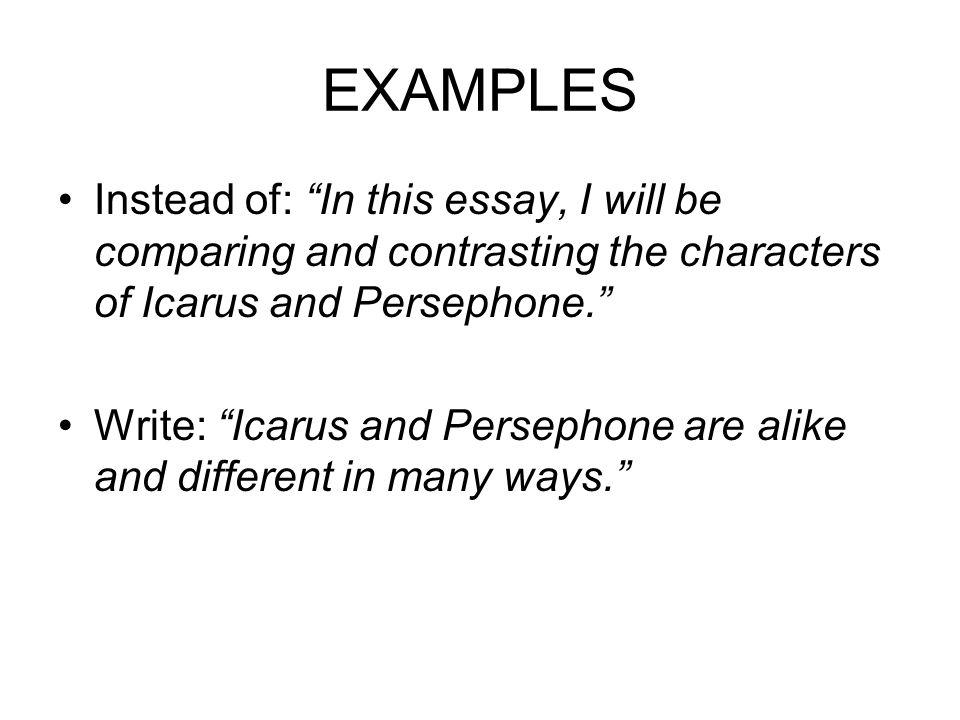 describe yourself short essay