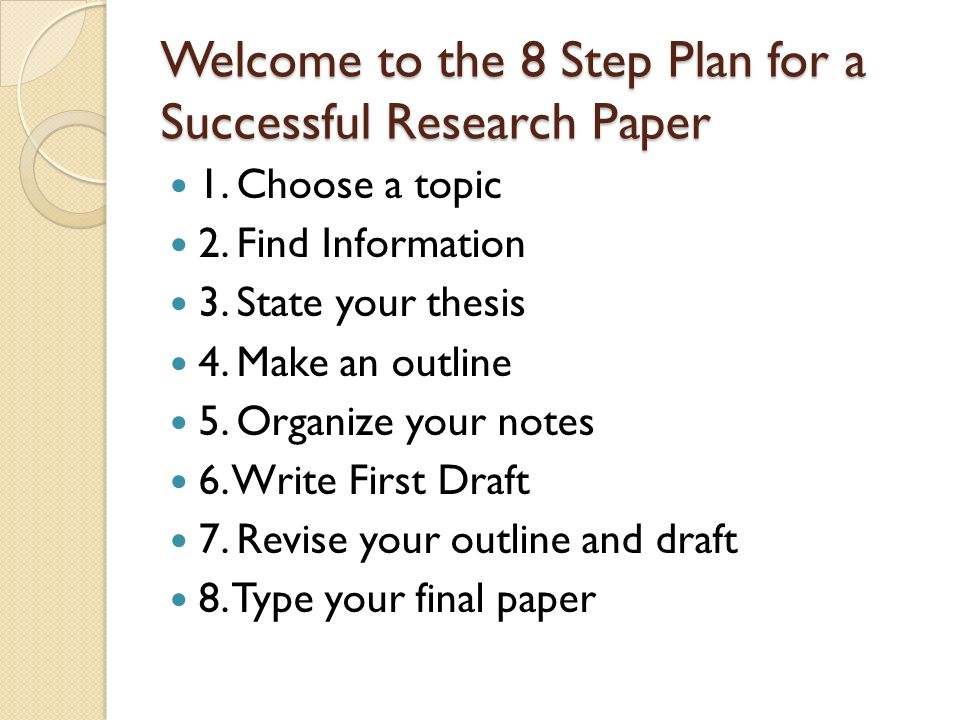 How to write research papers effectively