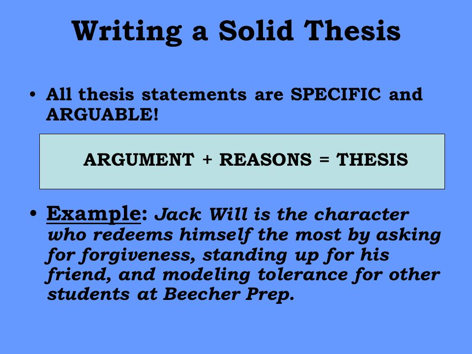 writing your senior thesis
