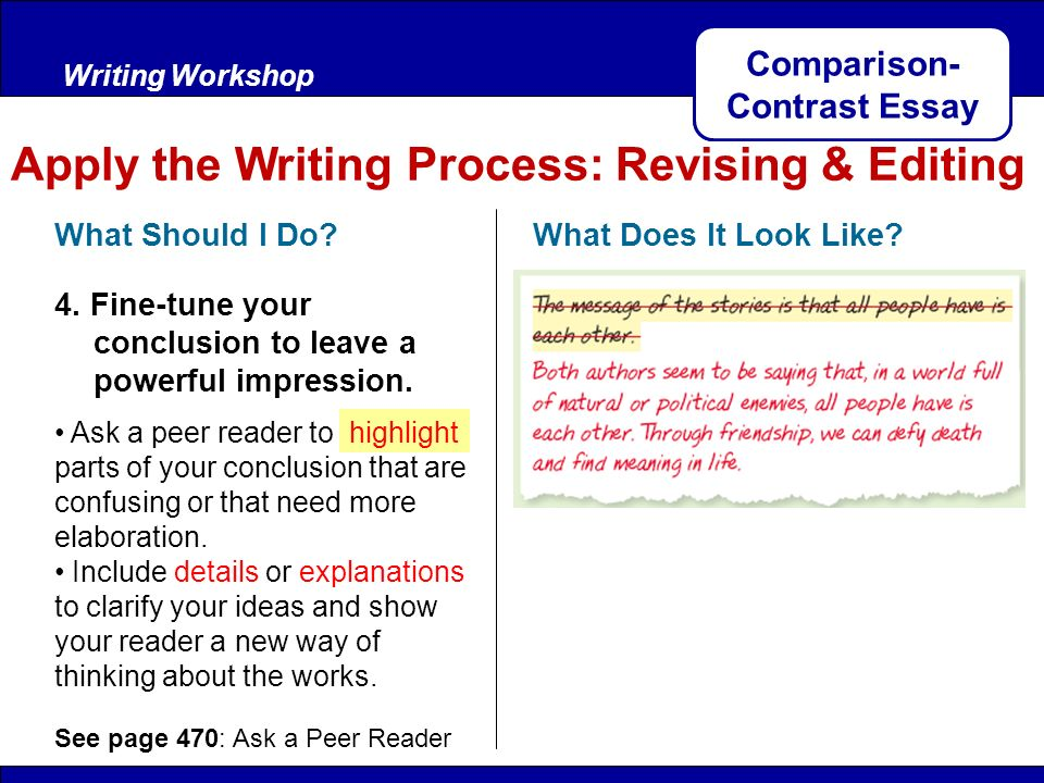 comparison of essay The goal of this activity is to promote a more thoughtful, active, and in-depth approach to studying in general and exam preparation more specifically this exercise requires you to focus on the creation (and presentation) of a sample art history exam essay in which you are required to compare and contrast two pieces of art with a good attempt.
