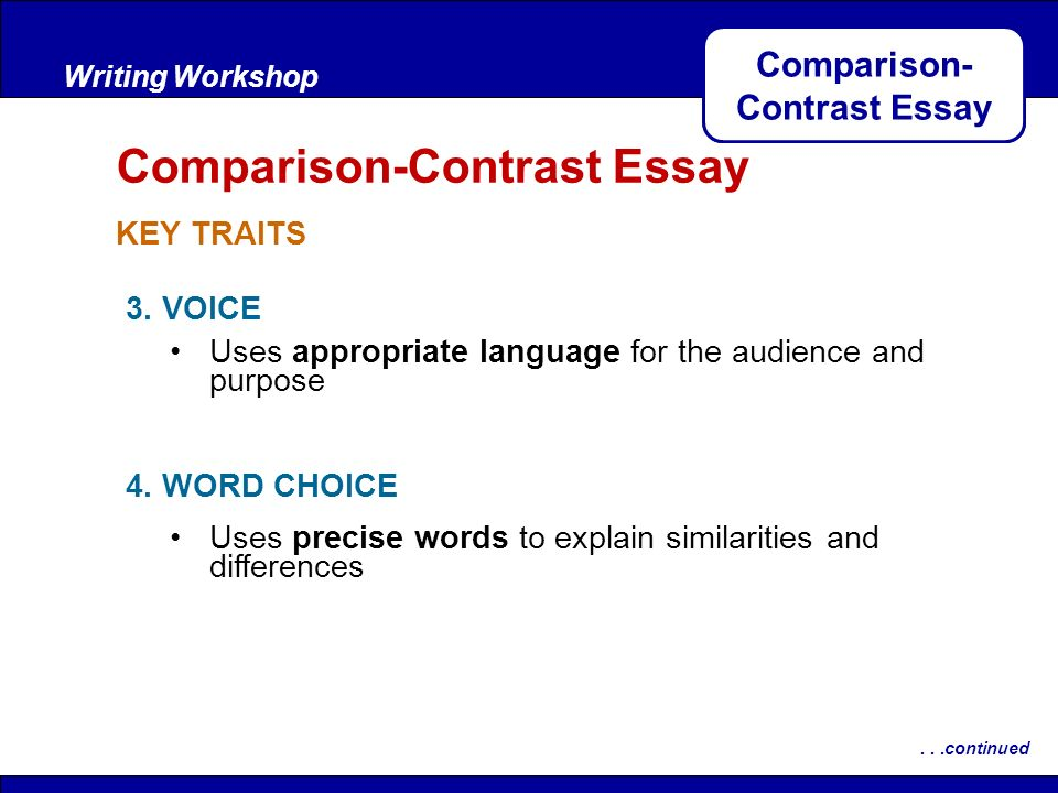 Comparison-Contrast Essay