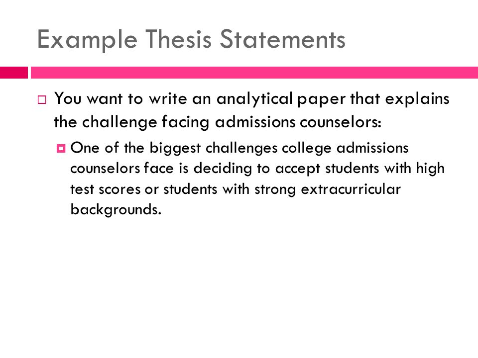 how to write a thesis for an analysis essay