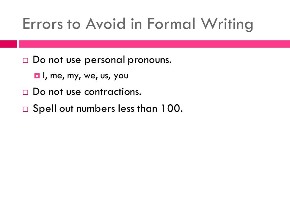 "can you use pronouns in a formal essay Should i use ""i"" using the first person pronoun can improve positioning yourself in the essay: in some projects, you need to explain how your research or."