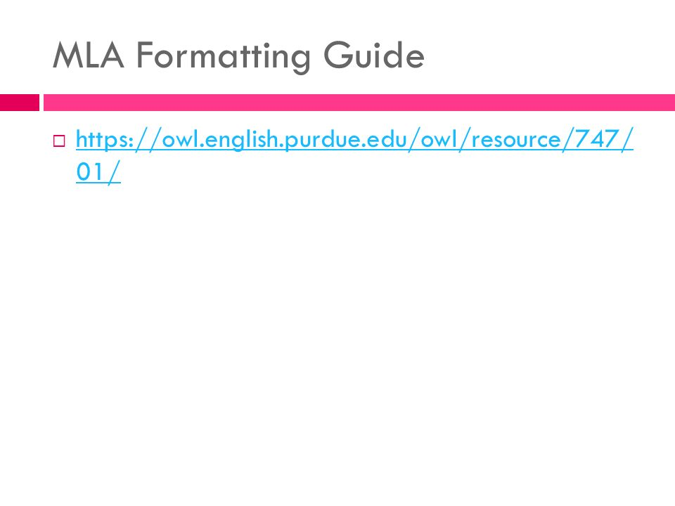mla format resources Mla citation format adapted from the mla handbook, 7th edition mla citation format is a method for formatting your paper and documenting the sources of.