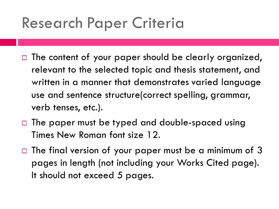 writing research papers sentences