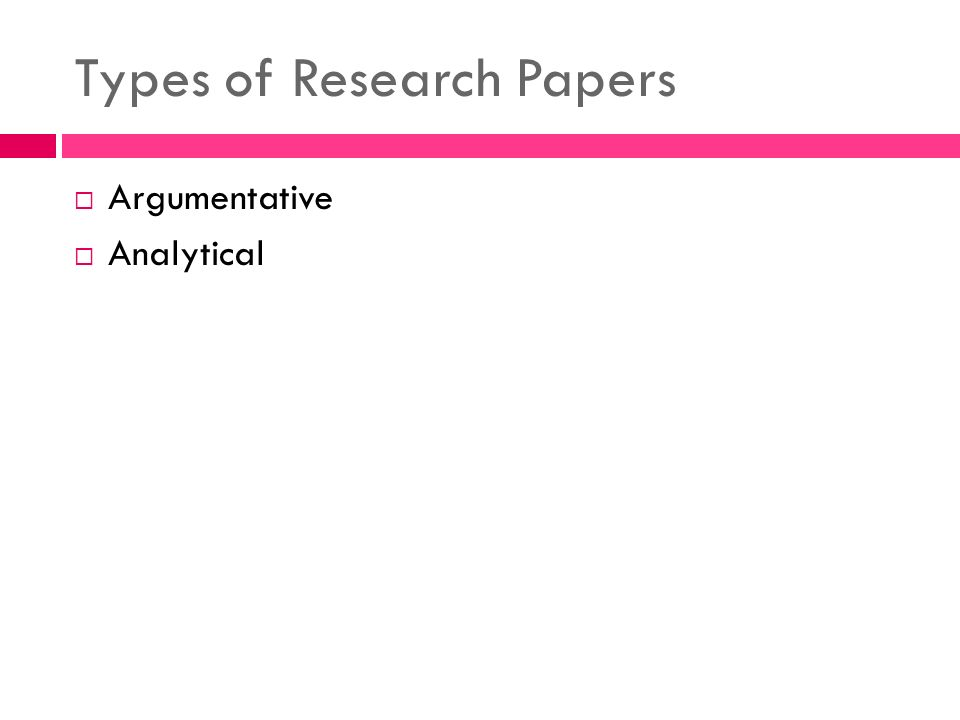 What Are Two Types of Research Papers?