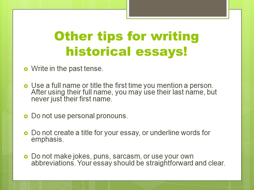 helpful hints for writing a dbq ppt video online other tips for writing historical essays