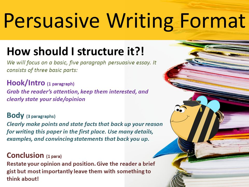 persuasive essay format read write think Your goal is to create a compelling, clear, and convincing essay people will want to read and act upon think of an inverted pyramid.