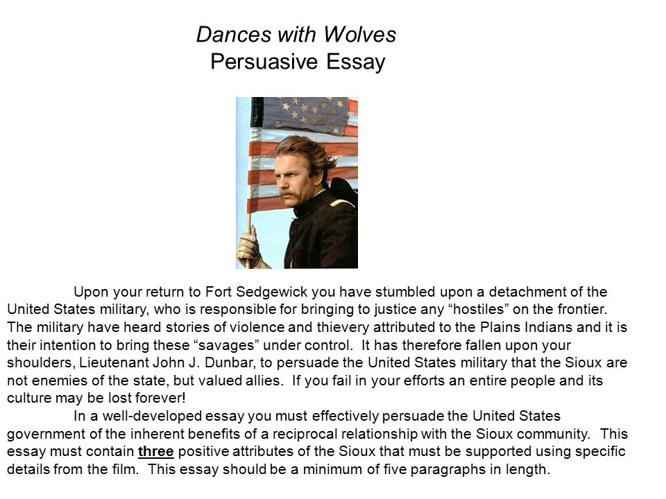 Essay dances with wolves analysis of financial statements