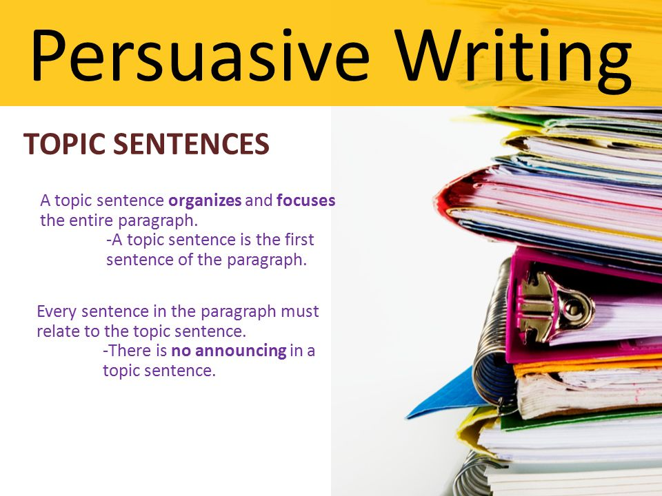 Term paper writing help topic sentence