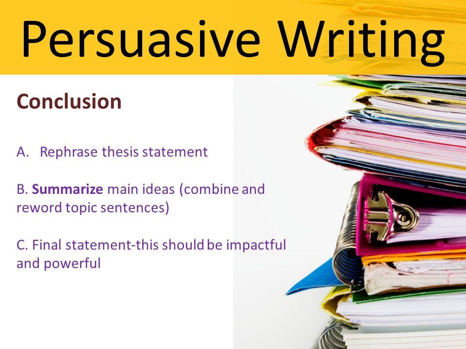 argument essay conclusions