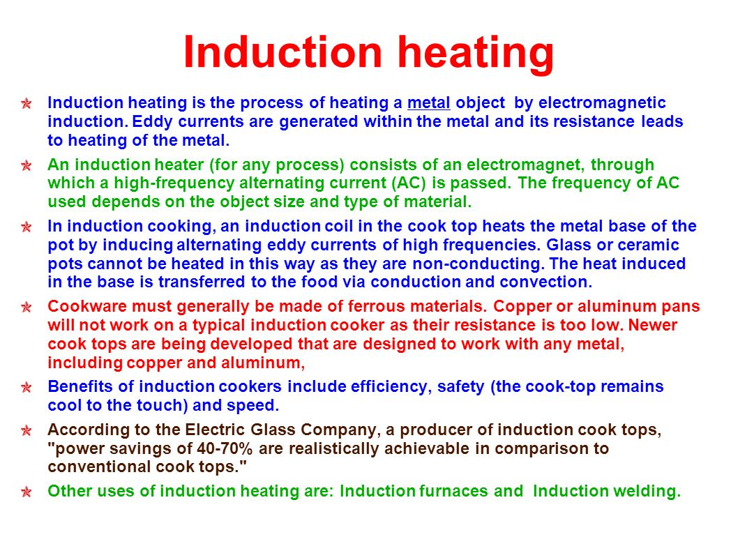 Benefits Of Induction Cooker ~ Motors and generators ppt download