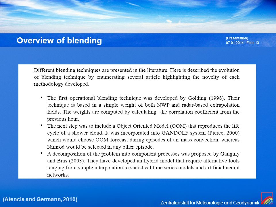 Overview of blending (Atencia and Germann, 2010) (Präsentation)