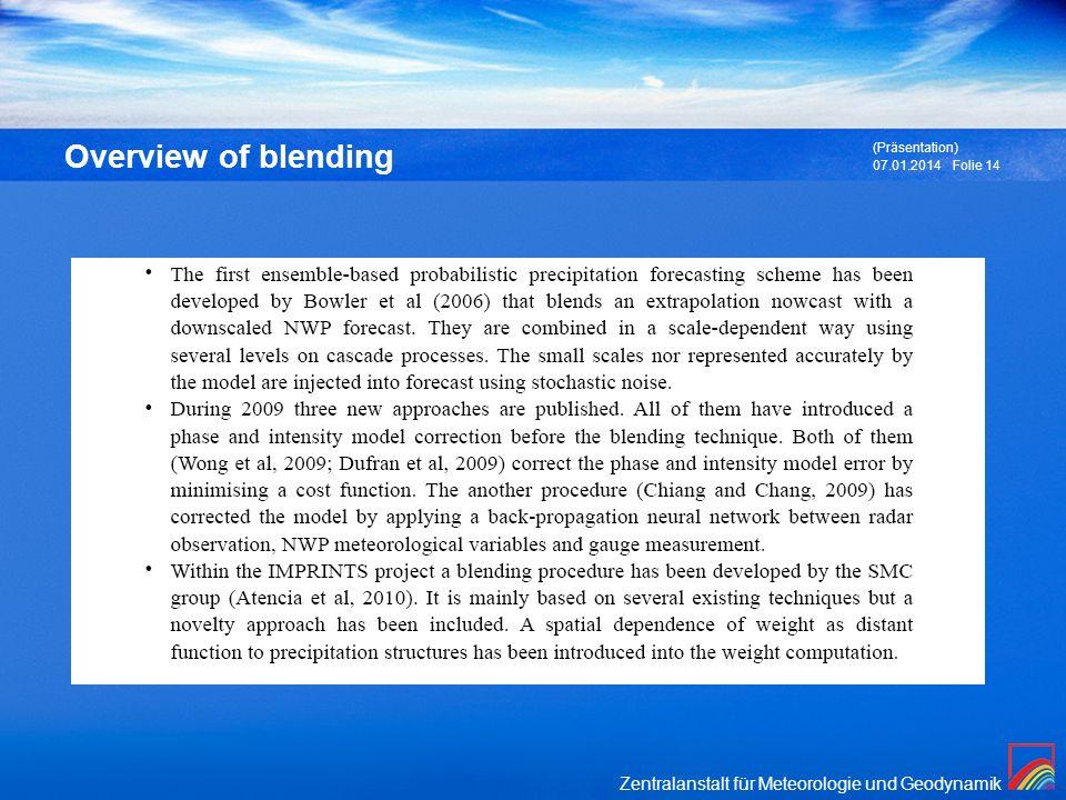 Overview of blending (Präsentation) 27.03.2017