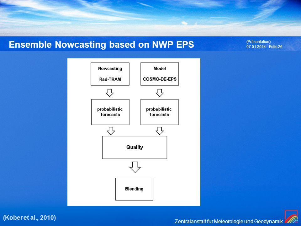 Ensemble Nowcasting based on NWP EPS