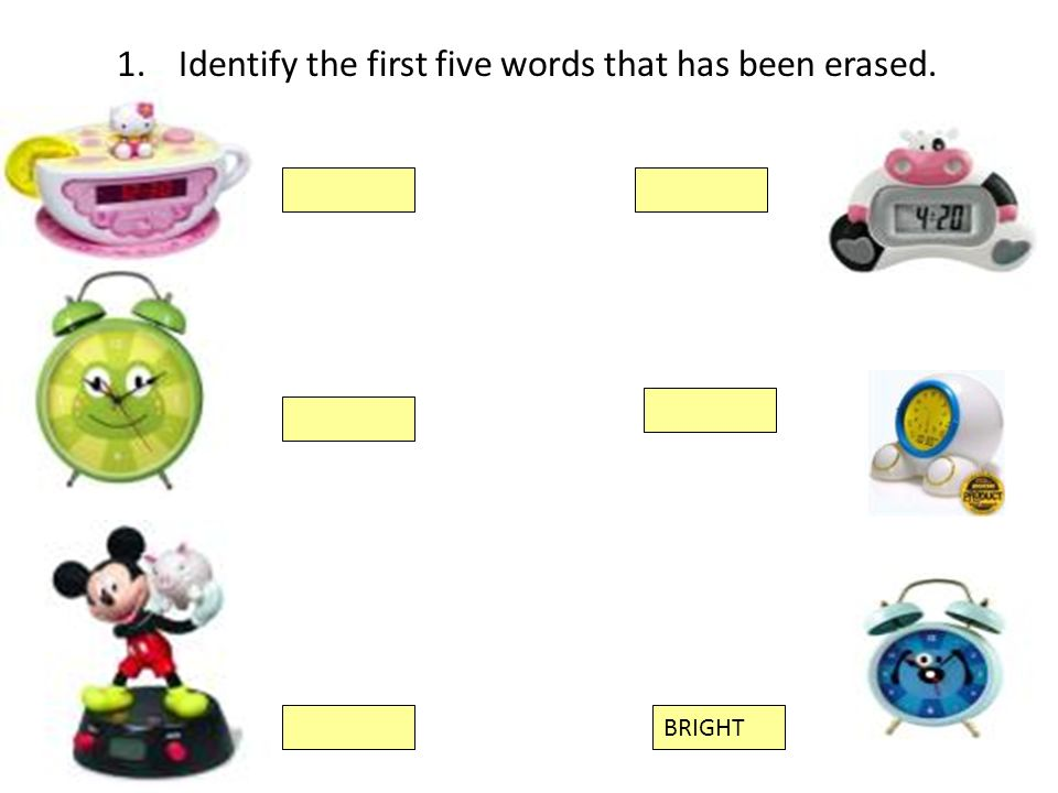 Identify the first five words that has been erased.