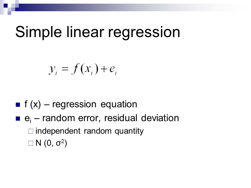 simple regression analysis Example 7: simple regression analysis data file this example is based on the data file povertysta that is included with your statistica program.