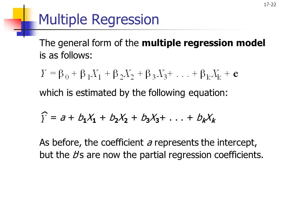 Single equation regression models
