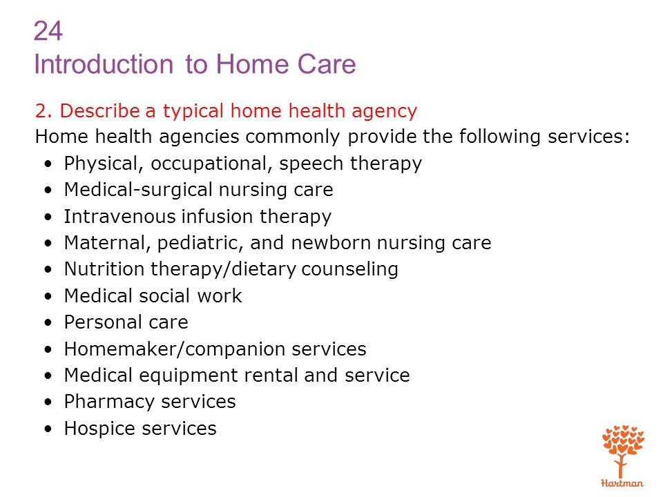 Explain The Purpose Of And Need For Home Health Care  Ppt