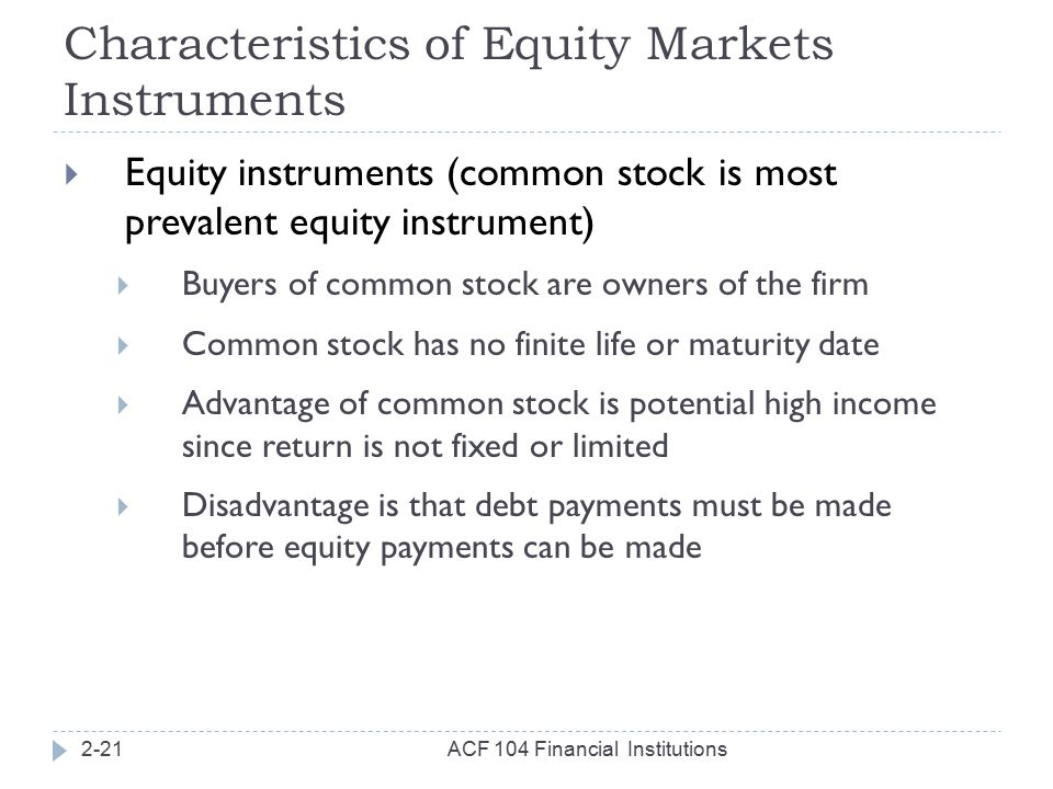 characteristics of debt and equity instruments However, certain hybrid instruments - those with both equity as well as debt characteristics - are permitted under the fdi regime, such as convertible notes.