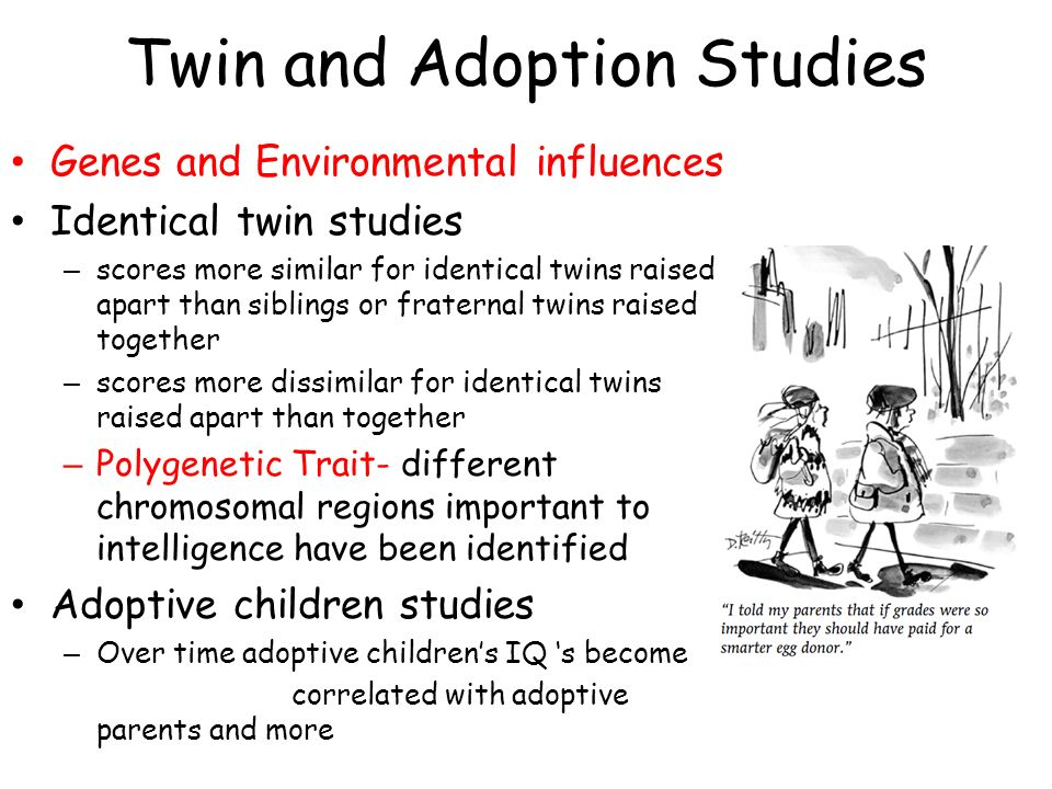 parental influence an important factor in teaching individualism to identical twins Pearson prentice hall™ is a trademark of pearson education, inc pearson is a   of human psychological differences: the minnesota study of twins reared apart  science, 250  individualism  the same ones that made up a large part of the  first edition  important, or the most influential in the history of psychology.