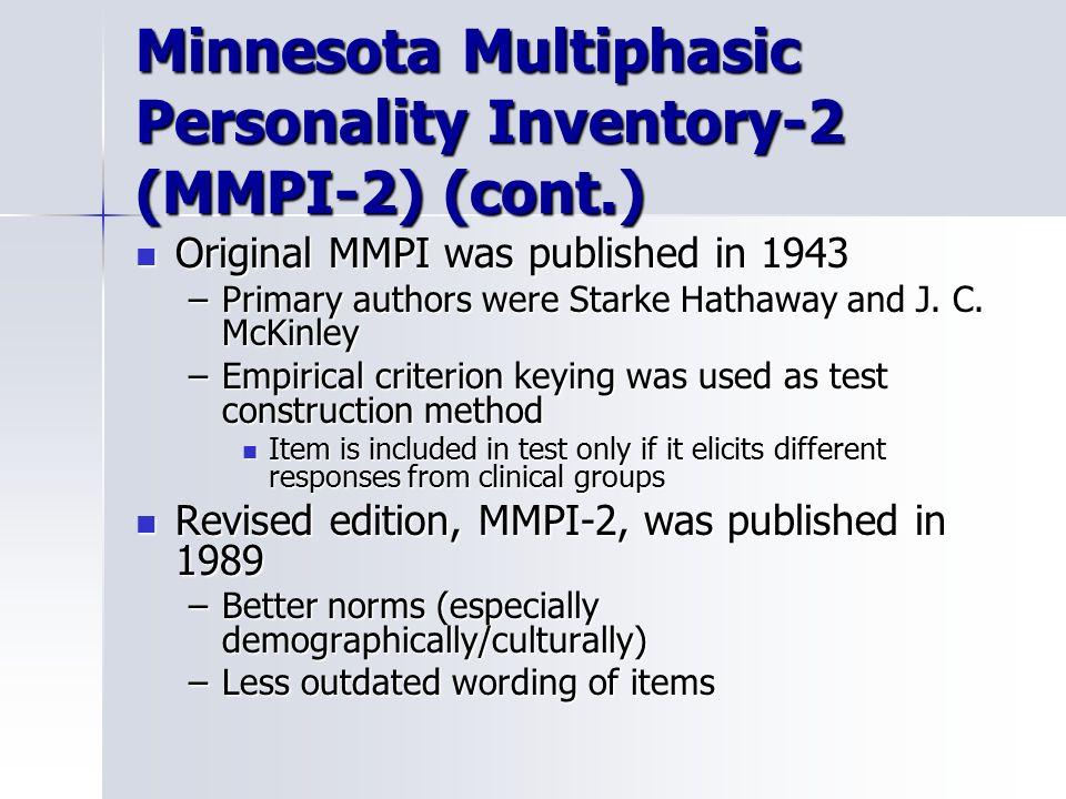 minnesota multiphasic personality inventory pdf