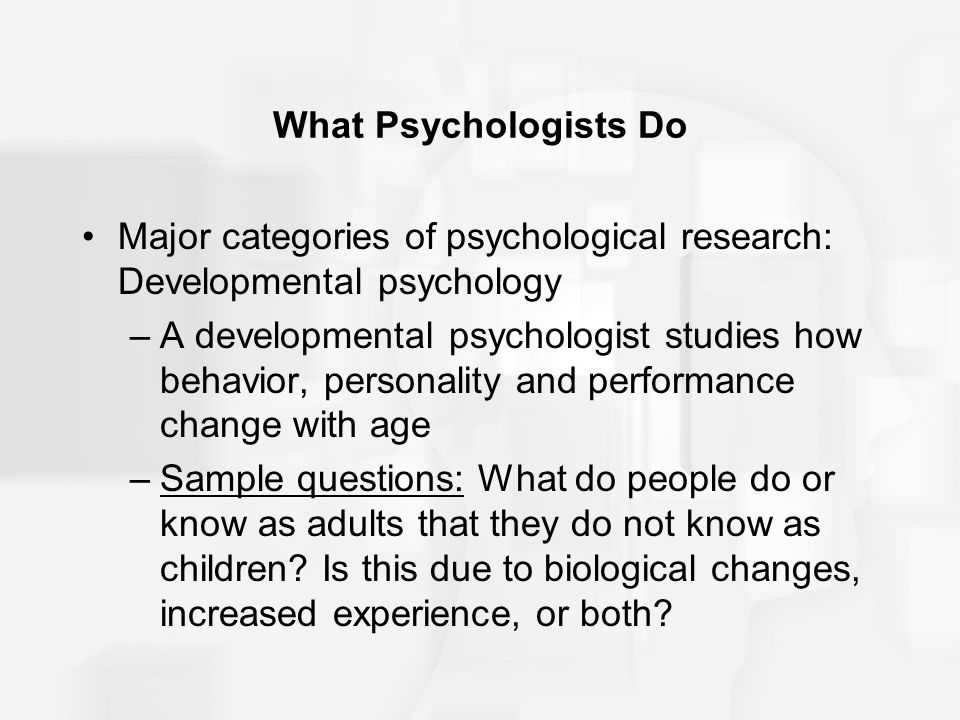 Careers in Developmental Psychology | About the Field