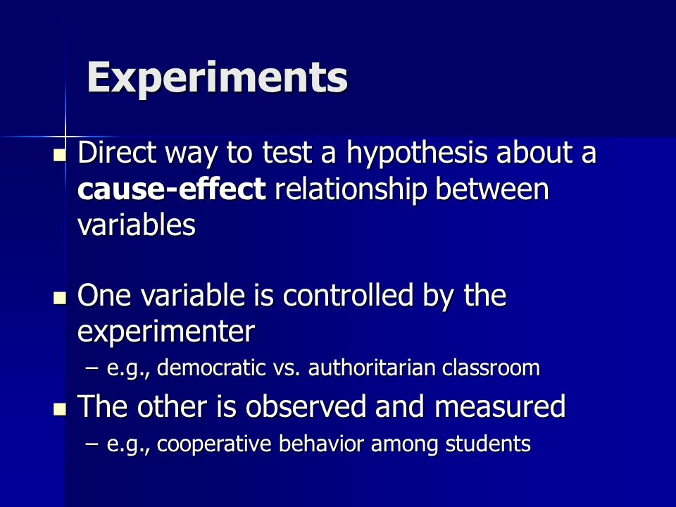 sample test on cause and effect relationship
