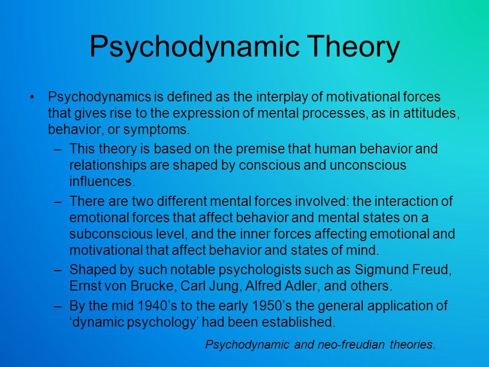 concept of psychoanalytic theory