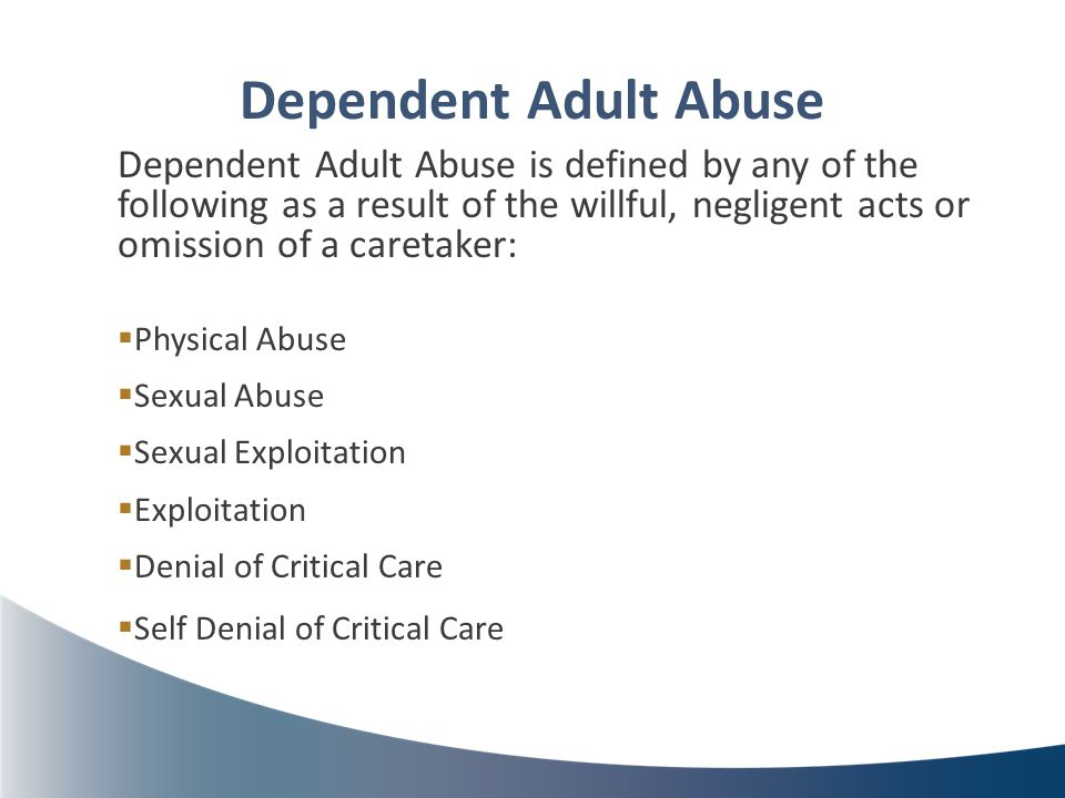 abuse adult dependent
