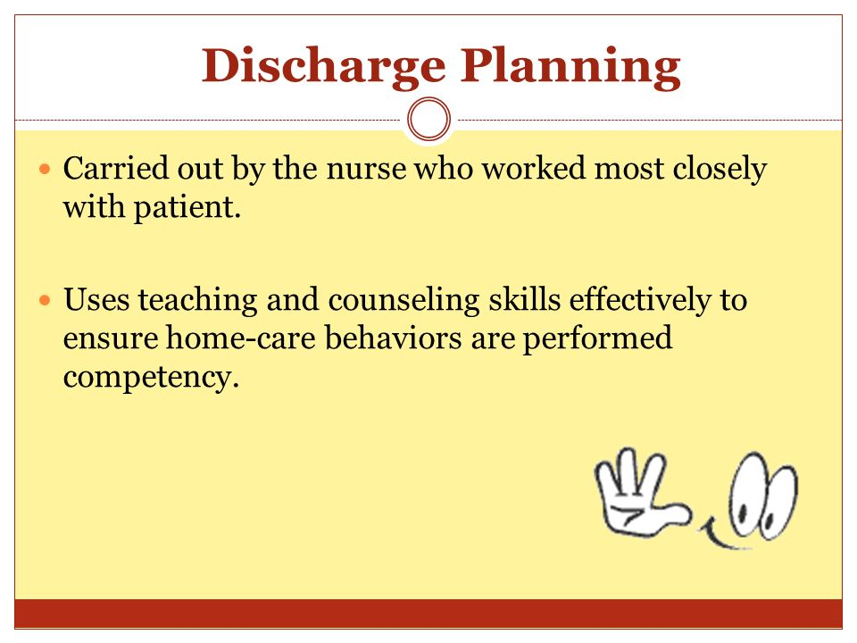 Hospital Discharge Planning: A Guide for Families and Caregivers