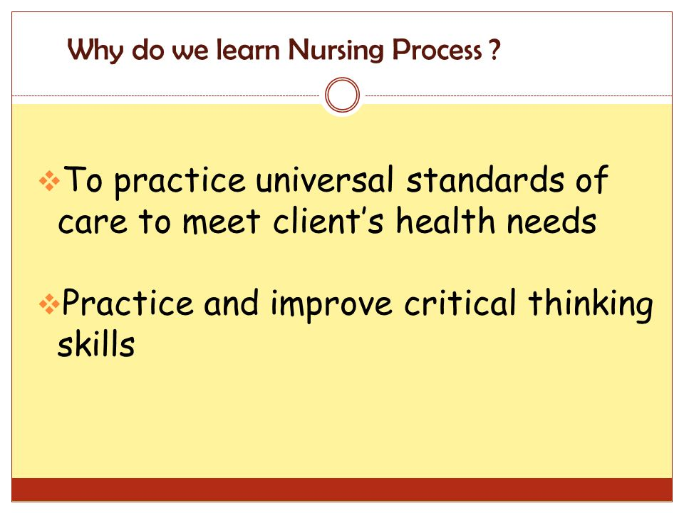 critical thinking skills in the nursing diagnosis process A nurse will arrive at a nursing diagnosis through the nursing process test bank go—all free home  nursing process and critical thinking.