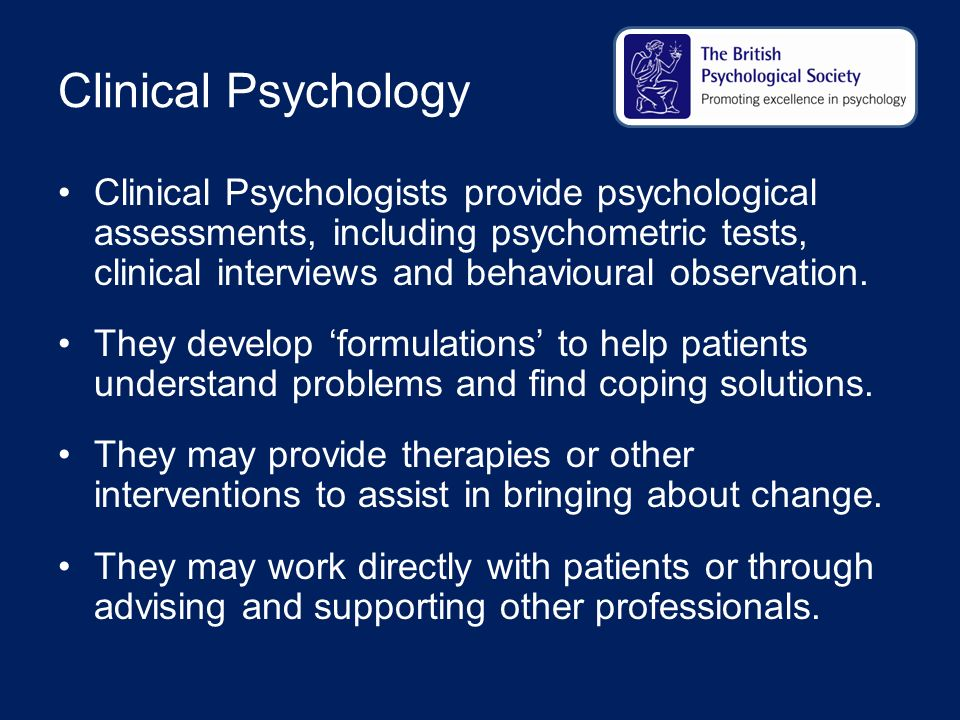 clinical psychology People who searched for clinical psychology, general found the following information and resources relevant and helpful.