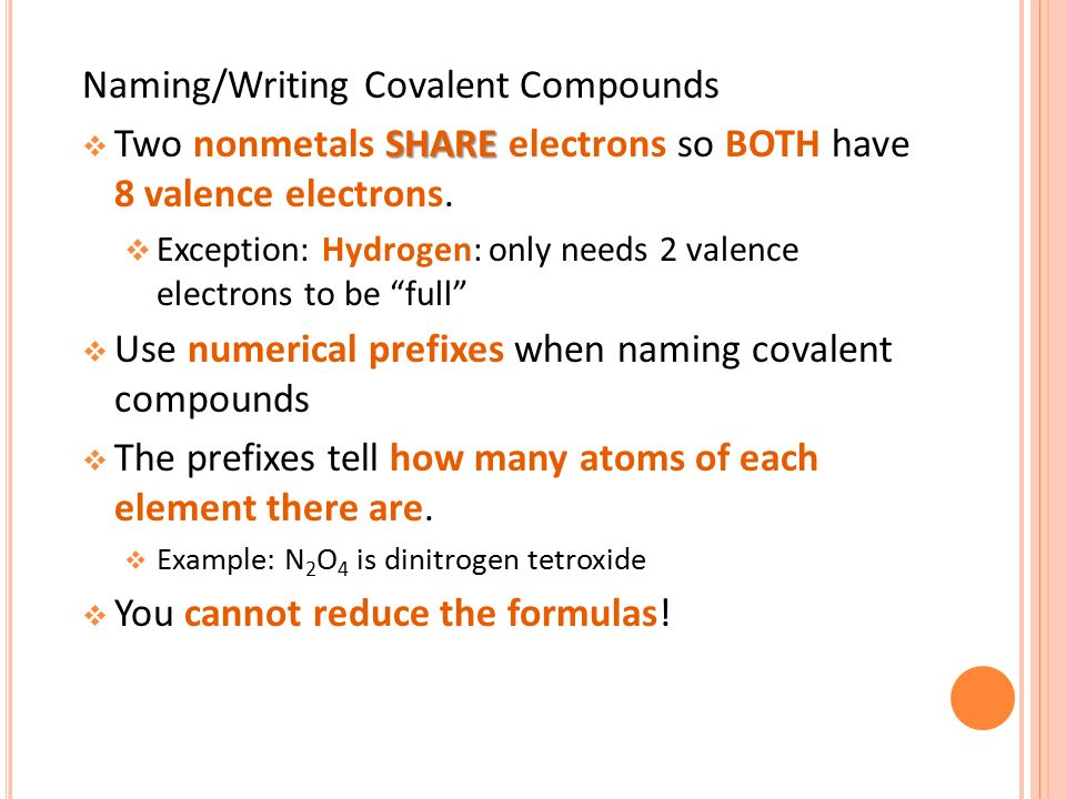Naming Covalent Compounds PowerPoint Presentation, PPT - DocSlides
